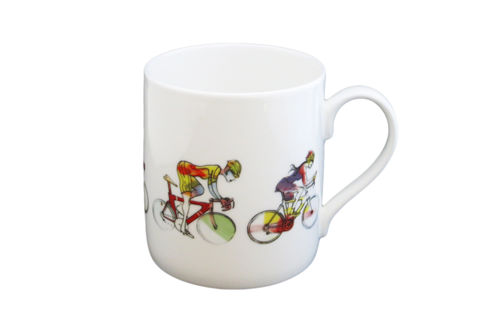 Women's Racing Cyclist Mug – Simon Spilsbury for CycleMiles