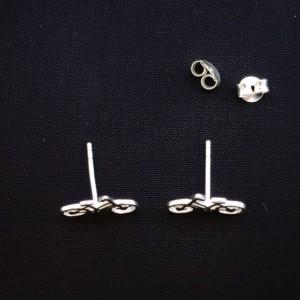 Sterling Silver Women's Bicycle Stud Earrings