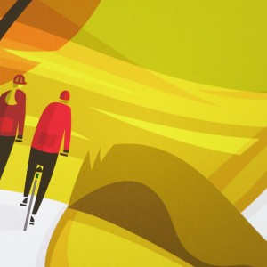 Lost Lanes West Country Cycling Print by Andrew Pavitt