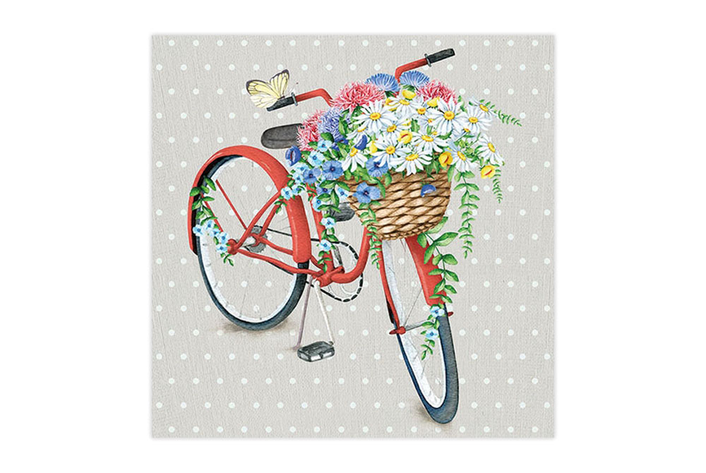 Basket of Flowers Bicycle Napkins