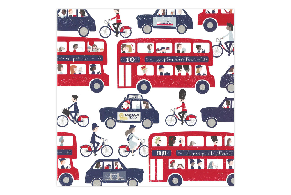 Cycling in London Greeting Card