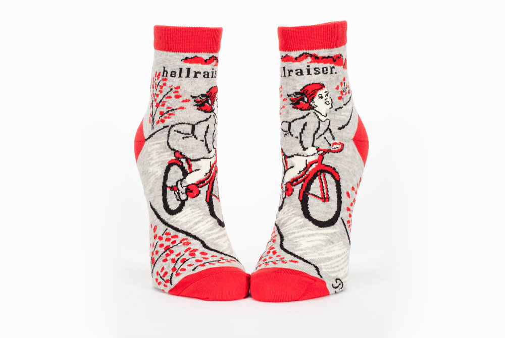 Blue Q Hellraiser Bicycle Ankle Socks
