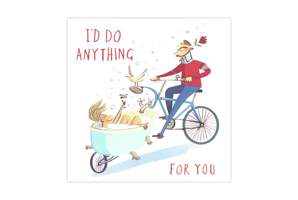 I'll Do Anything for You Bicycle Valentine's Card