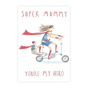 Super Mummy Bicycle Mother's Day Card
