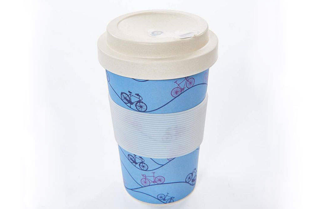 Reusable Bamboo Bicycle Cup