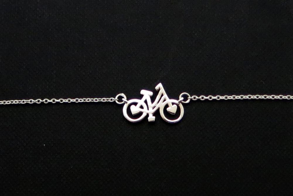 Sterling Silver Shopper Bicycle Bracelet
