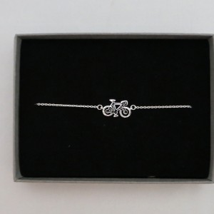 Sterling Silver Racing Bicycle Bracelet