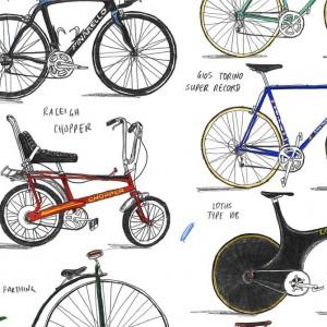 Bicycles Print by David Sparshott