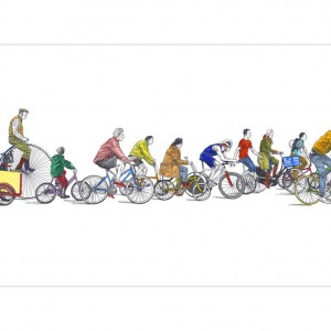 Cyclists Cycling Print by David Sparshott