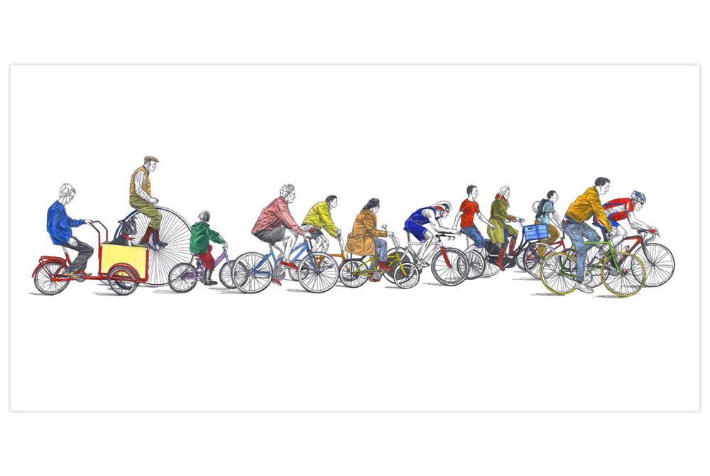 Cyclists Cycling Print by David Sparshott