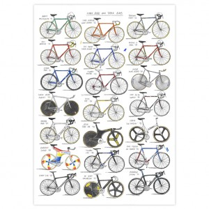 Iconic Road and Track Bikes Print by David Sparshott