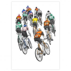 Peloton Racing Cycling Print by David Sparshott