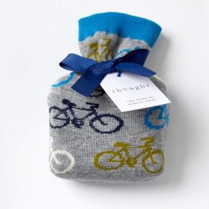 Men's Bamboo Bicycle Socks – In a bag – Grey Marl