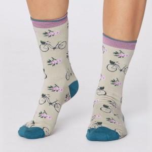 Women's Bamboo Bicycle Socks - Cream