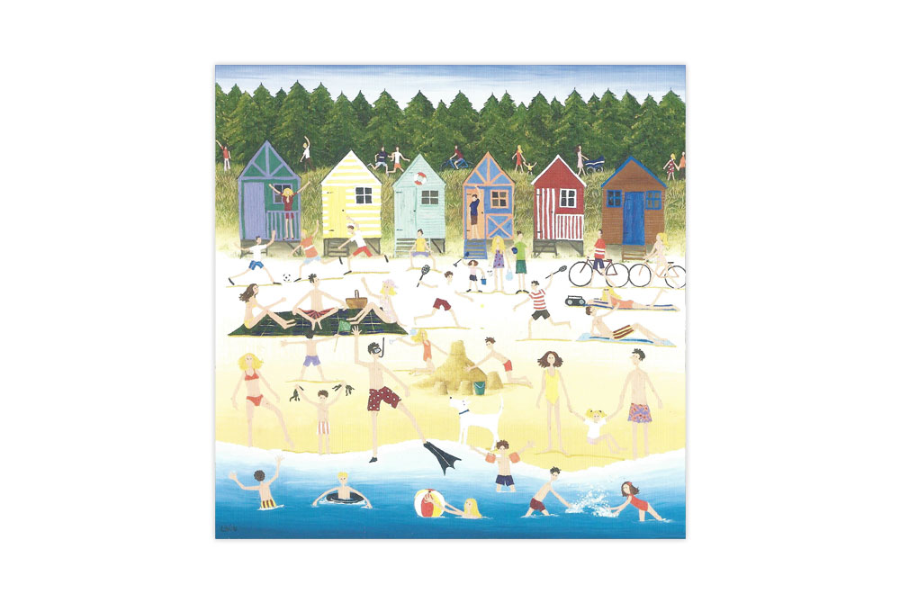 Cycling at the Beach Bicycle Greeting Card