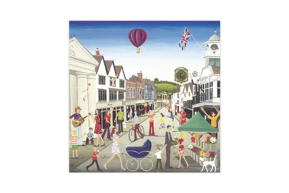 Guildford Bicycle Greeting Card