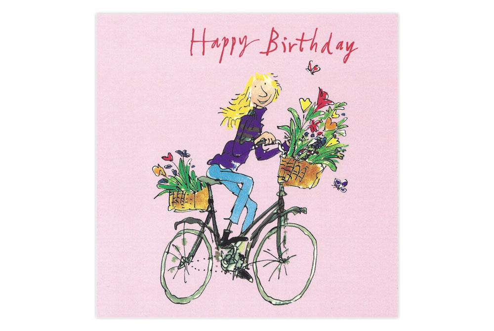 Quentin Blake Flowers Birthday Card