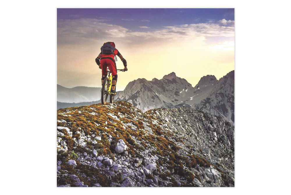 Mountain Bicycle Greeting Card