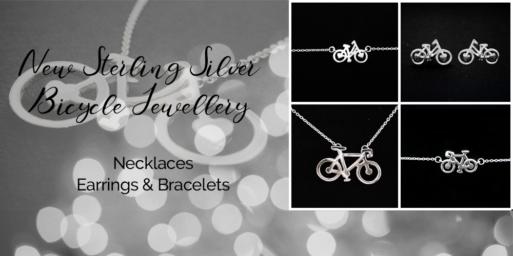 Beautiful Sterling Silver Bicycle Jewellery