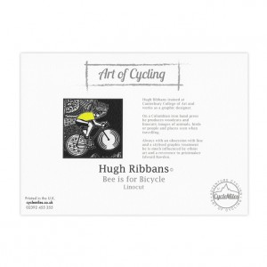 Bee is for Bicycle Greeting Card by Hugh Ribbans