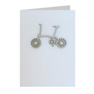 Brompton Bicycle Decoration Greeting Card
