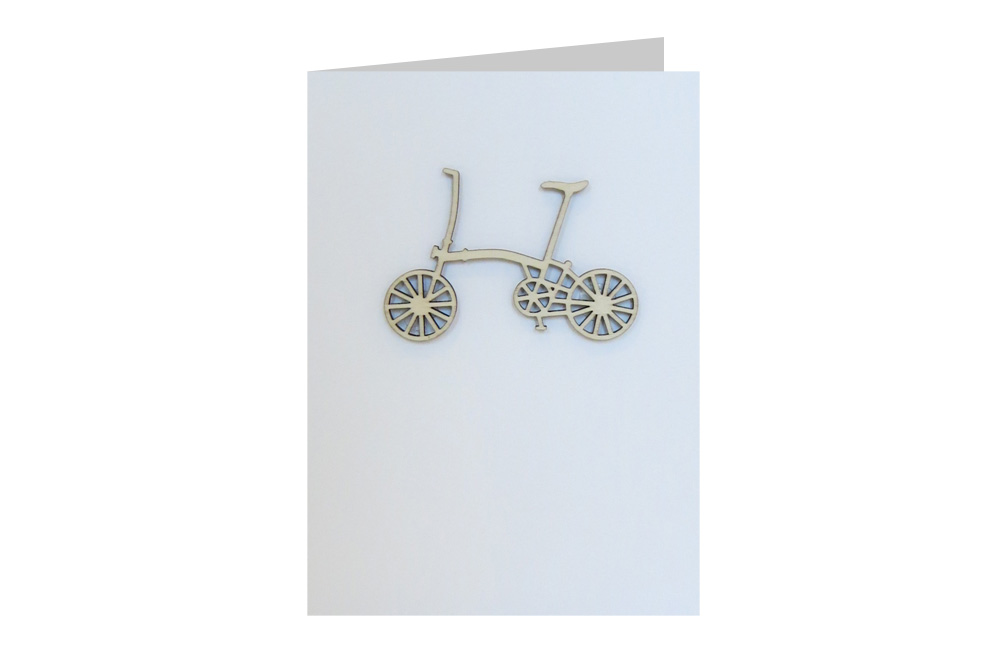 Brompton Bicycle Decoration Greeting Card