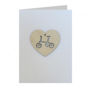 Brompton Love Bicycle Decoration Greeting Card