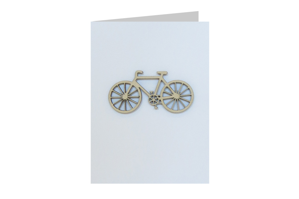 City Bicycle Decoration Greeting Card