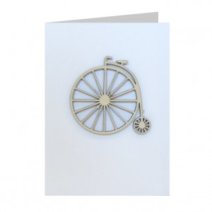 Penny Farthing Bicycle Decoration Greeting Card