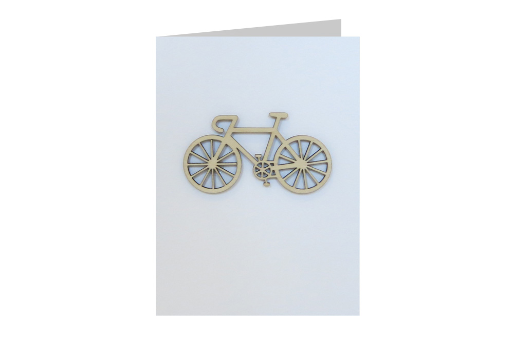 Racing Bicycle Decoration Greeting Card