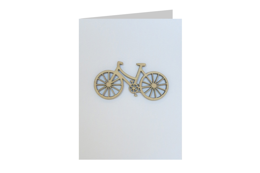 Shopper Bicycle Decoration Greeting Card