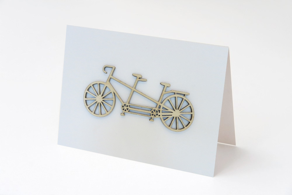 Tandem Decoration Greeting Card