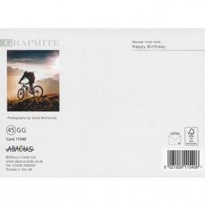 Sunset Mountain Biker Bicycle Birthday Card
