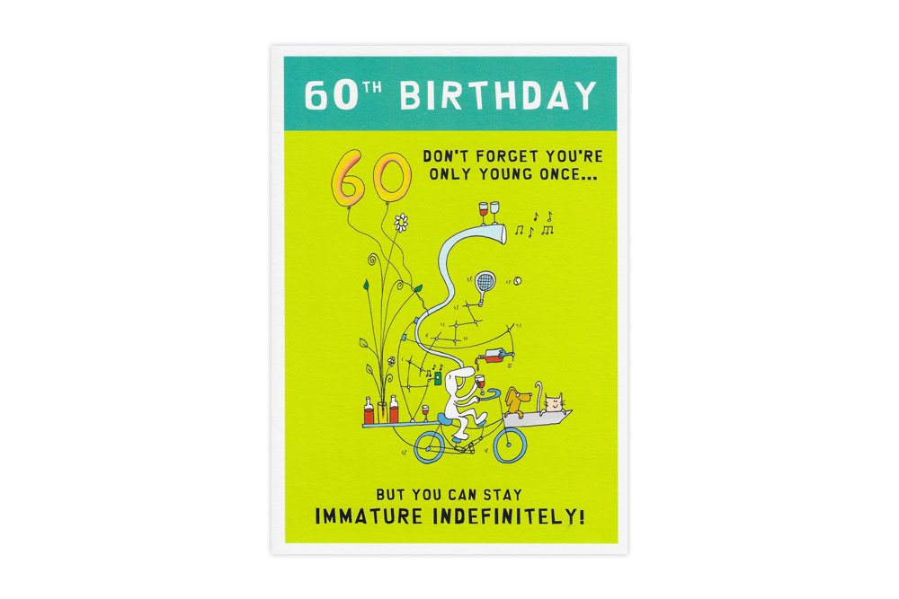 60th Birthday Bicycle Greeting Card
