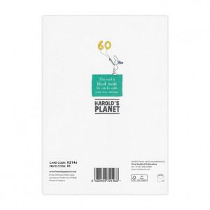 60th Birthday Bicycle Greeting Card
