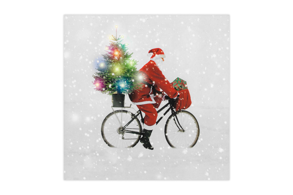 Cycling Santa Bicycle Christmas Charity Cards x 8