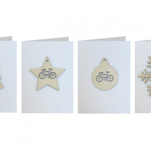 Bicycle Decoration Christmas Cards - Set of Four