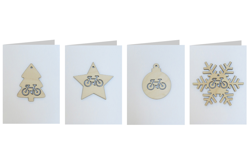 Bicycle Decoration Christmas Cards – Set of Four