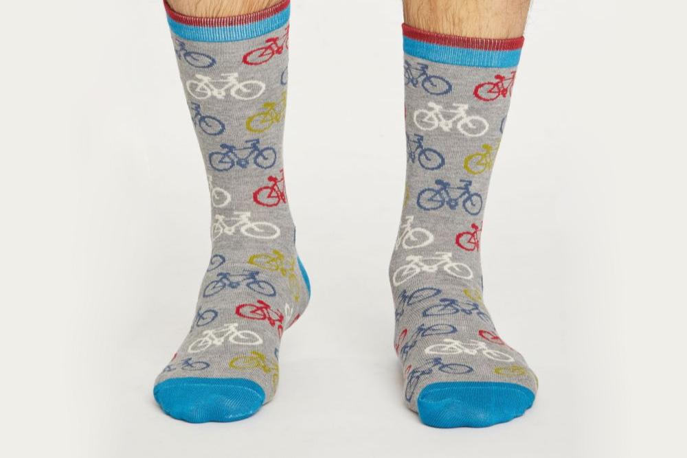 Men's Bamboo Bicycle Socks – Grey