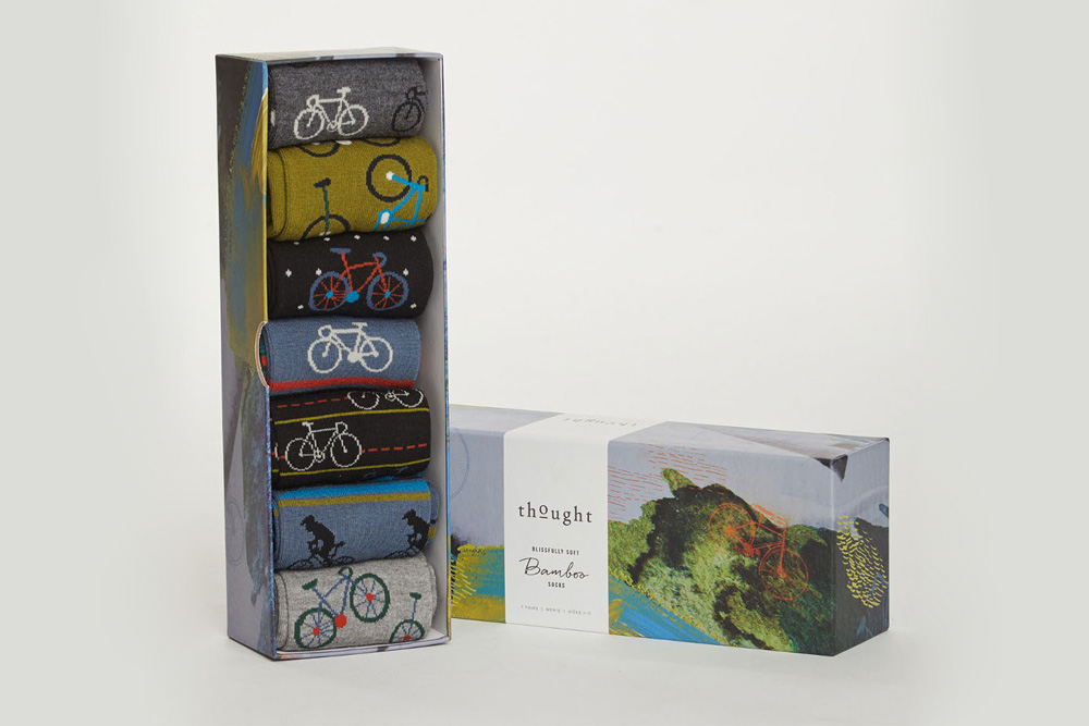 Men's Bamboo Bicycle Socks Box – 7 pairs