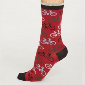 Men's Bamboo Bicycle Socks – Dark Red