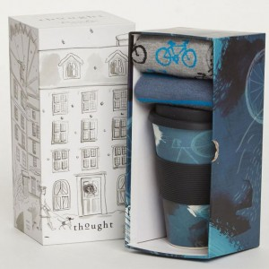 Cycler Bamboo Cup and Bicycle Socks Gift Box