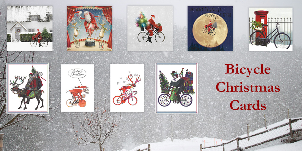 Bicycle Christmas Cards for your loved ones