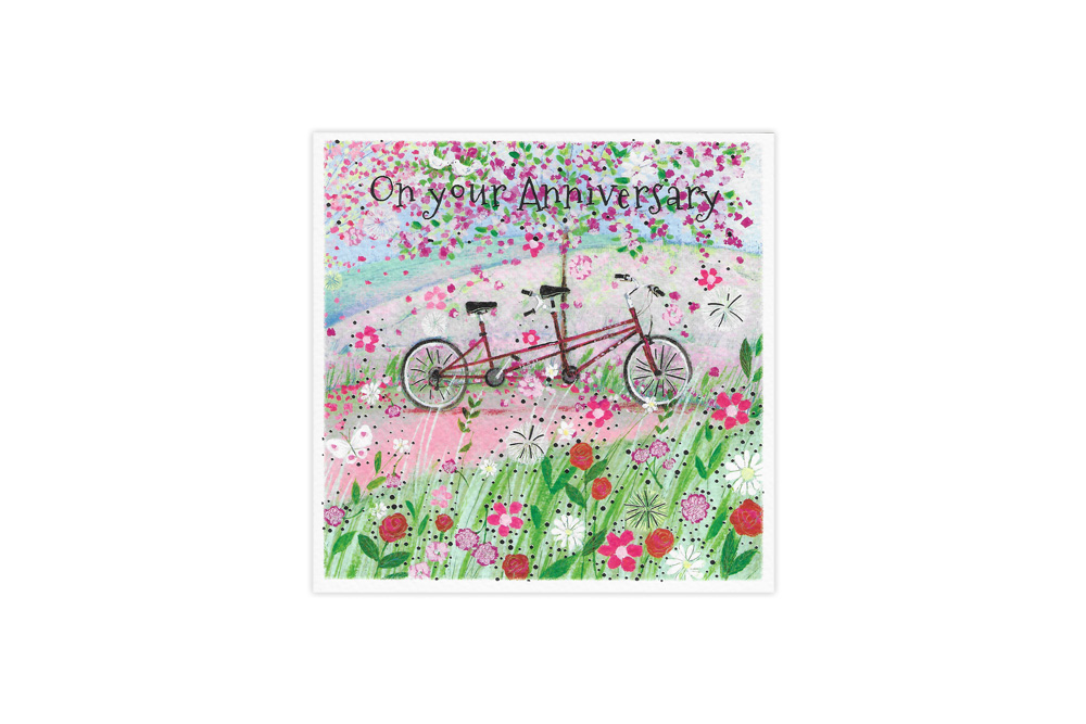 Bicycle made for Two Anniversary Card
