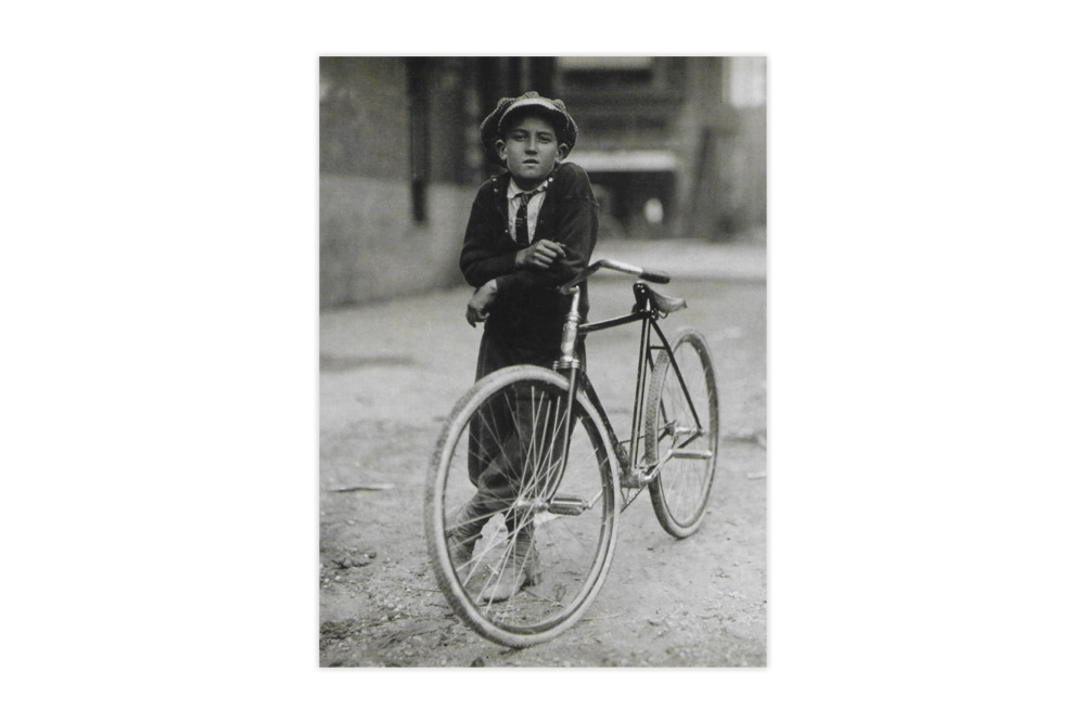 Messenger Boy Bicycle Greeting Card