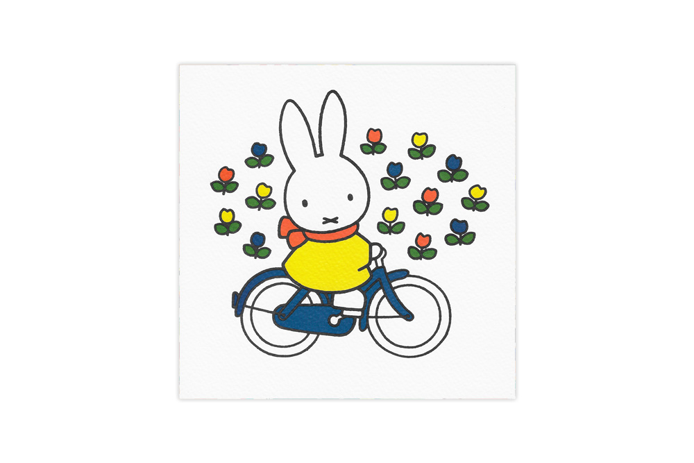 Miffy Rides her Bicycle Card