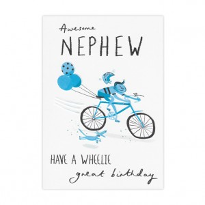 Awesome Nephew Bicycle Birthday Card