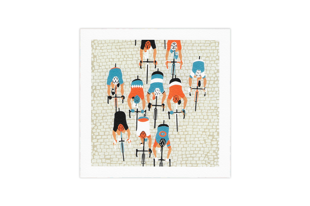 Paris Roubaix Racing Bicycle Greeting Card