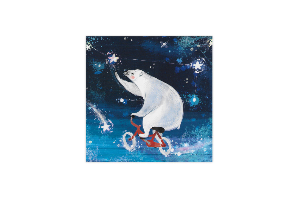 Polar Express Bicycle Charity Christmas Cards x 8