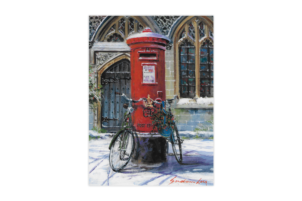 Post Box and Bicycles Charity Christmas Cards x 8